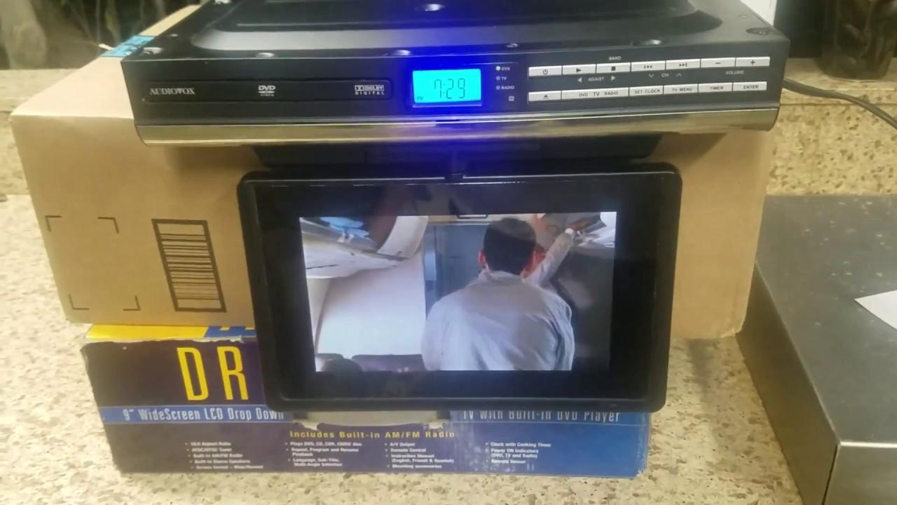 hight resolution of audiovox under kitchen cabinet tv dvd radio