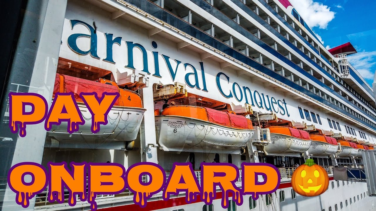Spending the Day Onboard Carnival Conquest - Halloween 2019