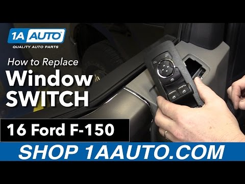 How To Replace Power Window Mirror Switch 15-19 Ford F150