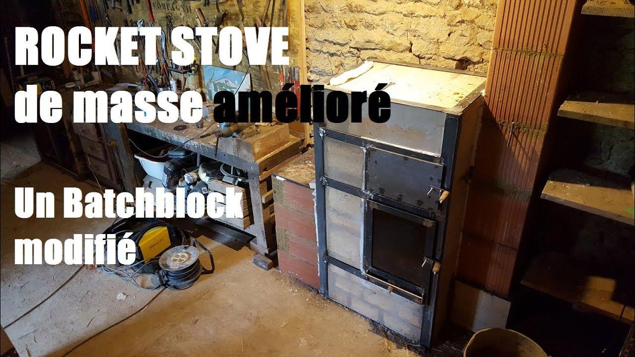 permaculture et autonomie un rocket stove de masse v3 1 batchblock modifi youtube. Black Bedroom Furniture Sets. Home Design Ideas