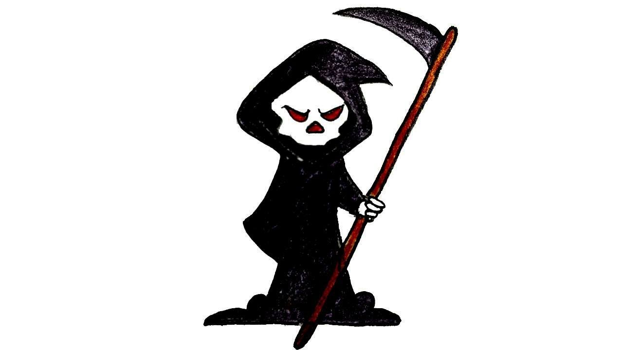 How To Draw The Grim Reaper Step By Step | Halloween ...
