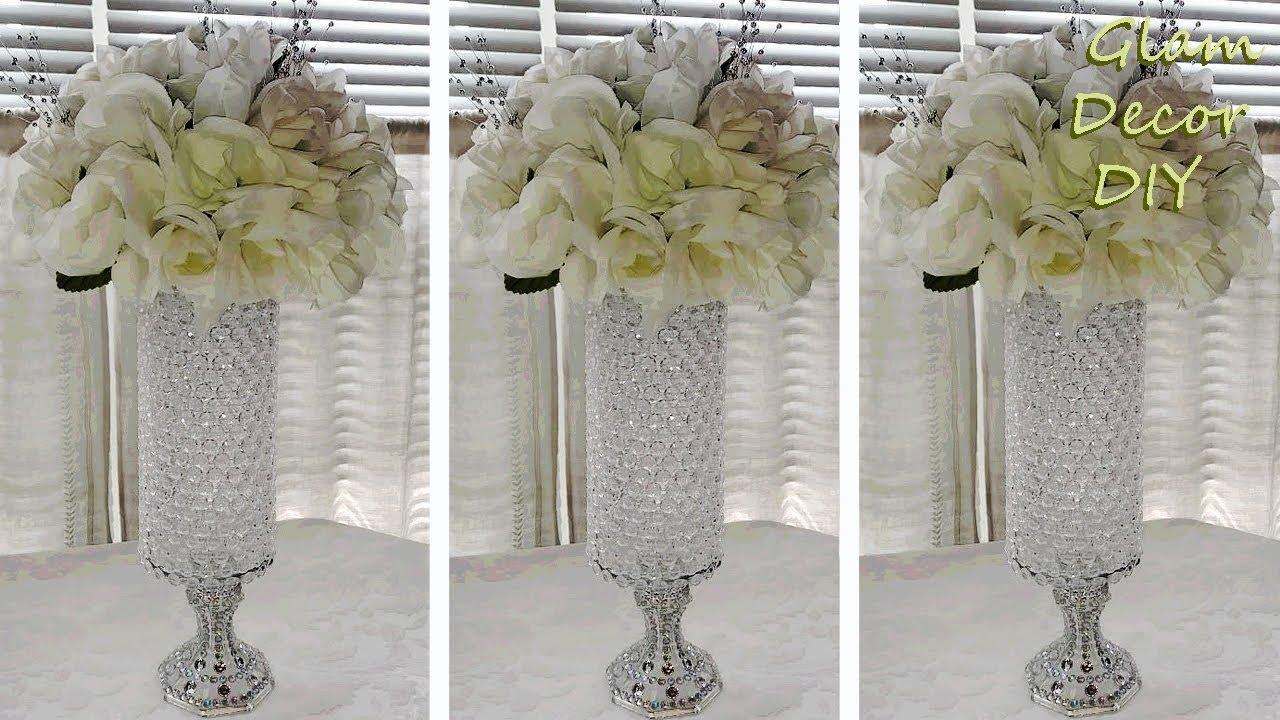 Dollar Tree Diy Glam Crystal Vase Wedding Centerpiece Bling Decor