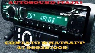 Auto Radio Sony - MEX-BT4007U - Entrada USB - Auxiliar Frontal - Bluetooth - CD Player - Hands Free