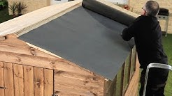 How To Felt A Shed Roof+Refelting A Shed Roof | Garden Ideas &Tips | Homebase