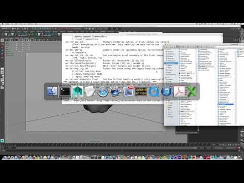 Using the Command Line Render option in Maya