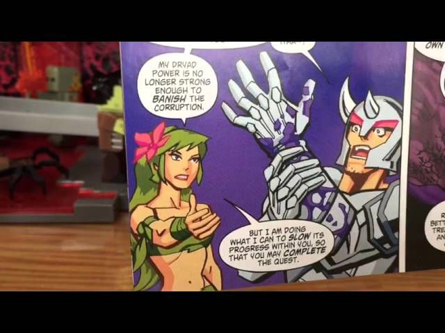 Terraria Comic Book Pack Figure Review Platinum Armor Player And Dryad Youtube