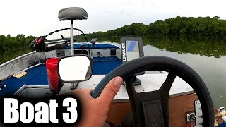 Summer Fishing with Power Worms - Learning to Bass Fish from a Boat