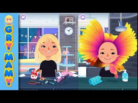Szalony Salon Fryzjerski - Toca Hair Salon 3 - gra na telefon i tablety