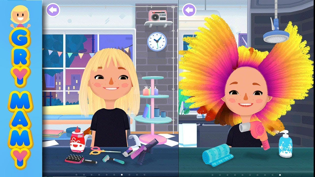 Szalony Salon Fryzjerski Toca Hair Salon 3 Gra Na Telefon I Tablety