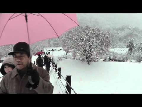 Snow in Shirakawa-go UNESCO heritage site, Japan