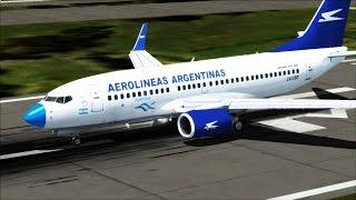 "Aeroparque (SABE) - Bariloche (SAZS) // ""Payaso"" Aerolíneas argentinas / FSX"