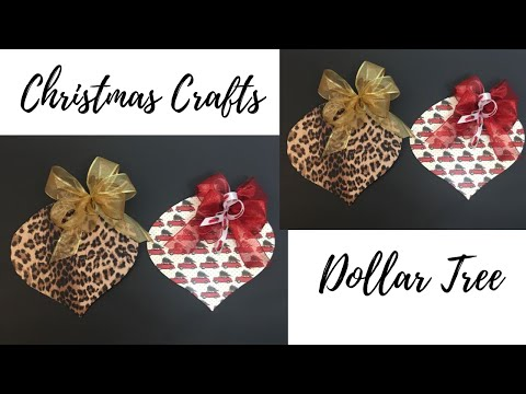 Christmas Dollar Tree Mod Podge Ornaments DIY Wreath