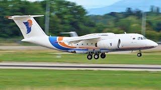 [FullHD] **RARE** Libyan Government Antonov 74 landing & takeoff at Geneva/GVA/LSGG