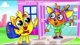 ???? Back To School Song ???????????? | Baby Zoo Nursery Rhymes And Kids Songs  ????????????????????
