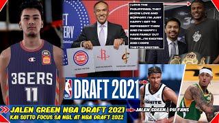 Jalen Green NBA Draft 2021 | Kai Sotto Focus sa NBL at NBA Draft 2022  | PH Fans.