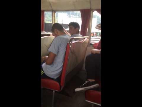 Smack cam on Ali in School bus