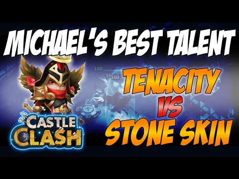 Castle Clash - Stone Skin And Tenacity With Deflect On Michael