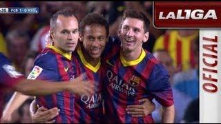 Primer gol de neymar (1-0) en la liga tras un error de cadamuro y bravo - hd