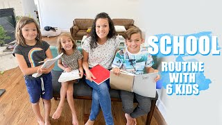 HOMESCHOOL Routine with 6 KIDS {Day in the LIFE}