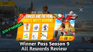 New Winner Pass Season 9 All rewards Review PUBG MOBILE LITE