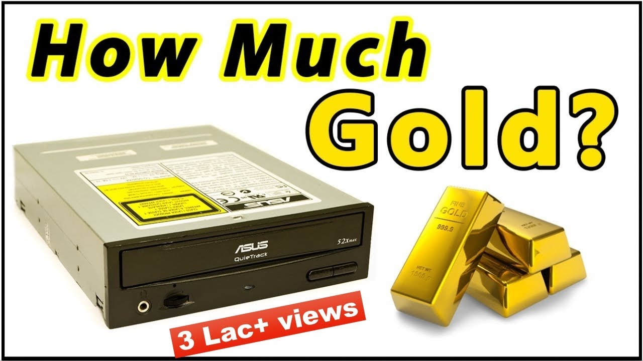 Gold Quantity In Cd Dvd Roms Recovery Techniques Youtube It Scrap Hard Drive Recycling Circuit Board
