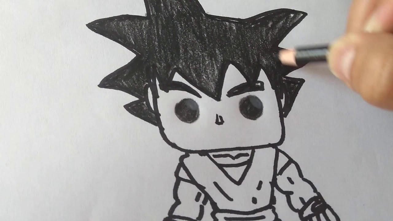 Cómo Dibujar Y Pintar A Gokú Funko Pophow To Draw And Paint Gokú Funko Pop From Dragon Ball Z