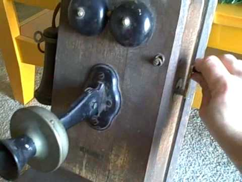 hqdefault antique kellogg wall crank telephone youtube kellogg telephone wiring diagram at crackthecode.co