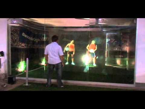 BCP interactive soccer holograms summer 2007 setup & backstage @ Lima, Peru