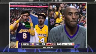 Kobe's biggest fans catch his attention in Chicago