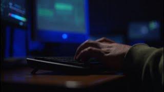 Male Hacker Cracks A Password Stock Video