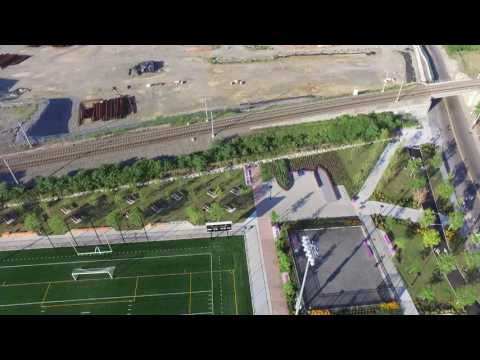 DJI PHANTOM 3 AERIAL VIEW OF BERRY LANE PARK, JERSEY CITY, N.J.