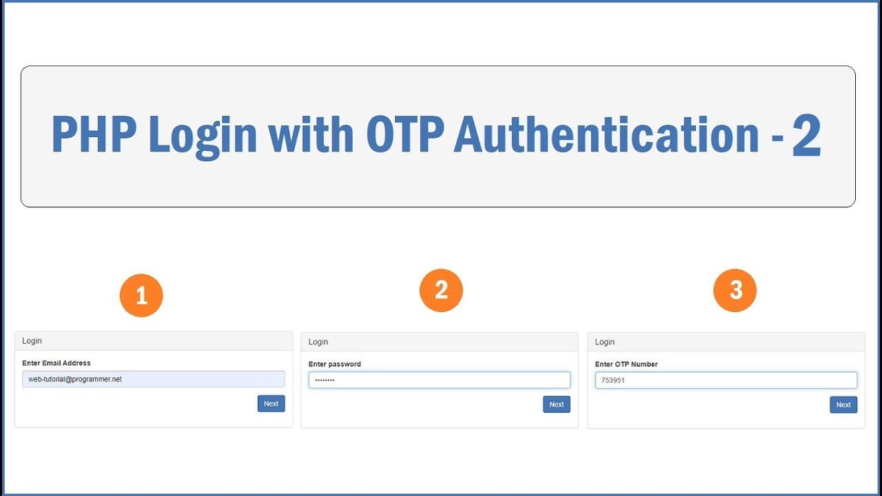 PHP Login with OTP Authentication - 2