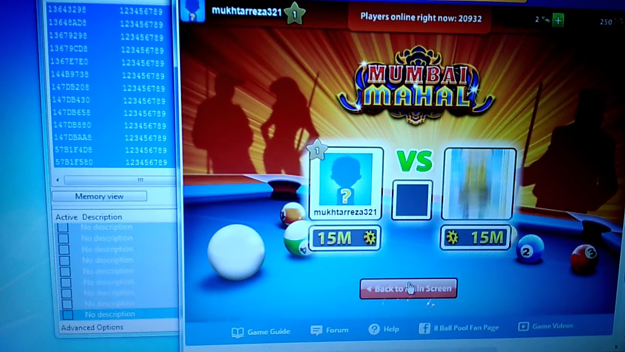 8 Ball pool coin hack in pc very easy - YouTube