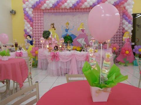 Ideias Decoração e Lembrancinhas Festa Aniversário Princesas Disney