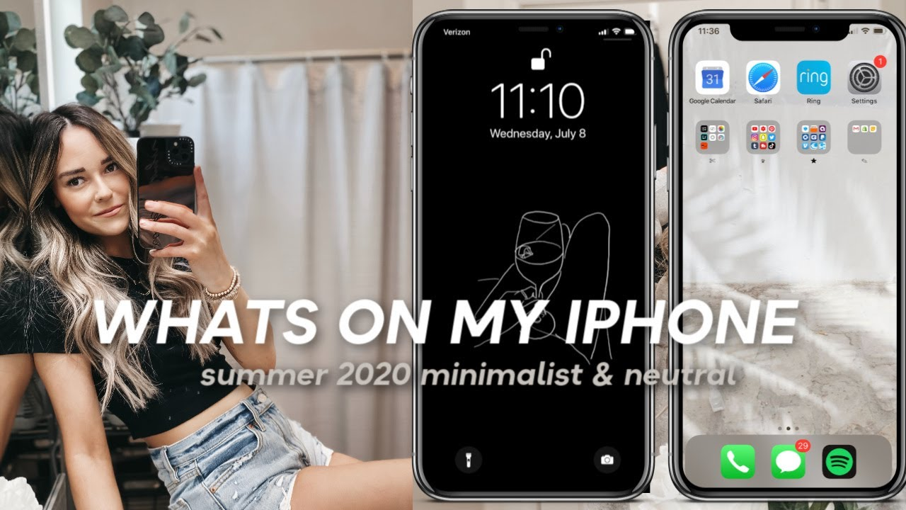 WHATS ON MY IPHONE SUMMER 2020 (AESTHETIC & MINIMAL)