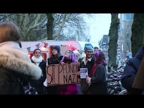 Demonstratie tegen forum voor democratie in Groningen