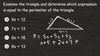 Writing An Expression Repreṡenting The Perimeter Of A Triangle