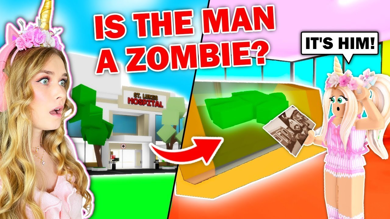 The MAN IN THE PICTURE Is The ZOMBIE In The ABANDONED HOSPITAL In Brookhaven! (Roblox)