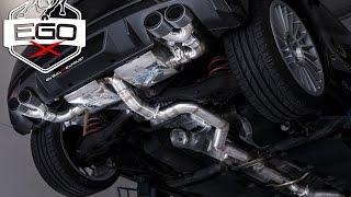 audi s1 quattro exhaust sound 76mm 3 klappenauspuff sportauspuff bull x ego x klappenabgasanlage