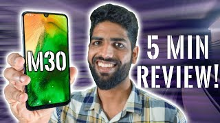 Samsung Galaxy M30 Review in 5 Minutes!🔥