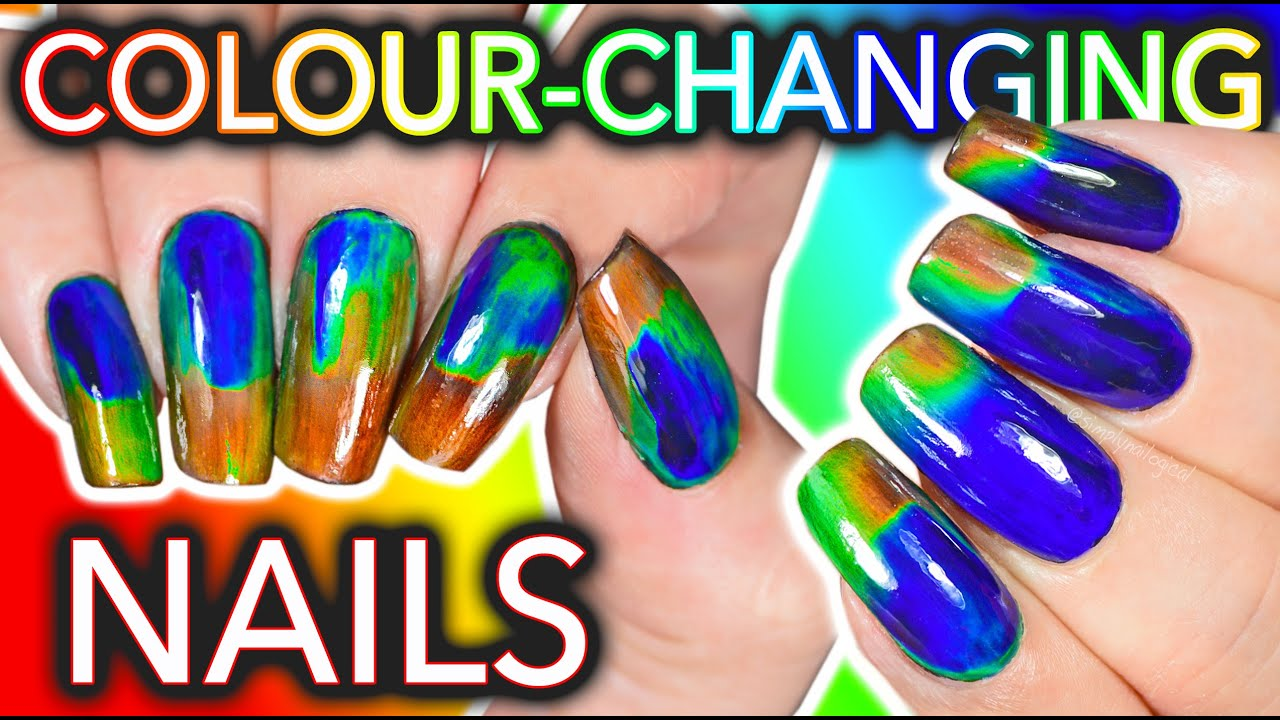 DIY Colour-Changing Nails with LCD screen ingredients?!? WILL I DIE ...