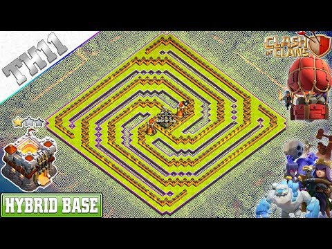 NEW Town Hall 11 (TH11) Base 2019 With Copy Link | TH11 Spiral Base | Clash Of Clans