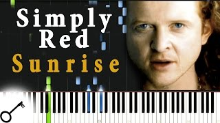 Simply Red - Sunrise [Piano Tutorial] Synthesia | passkeypiano