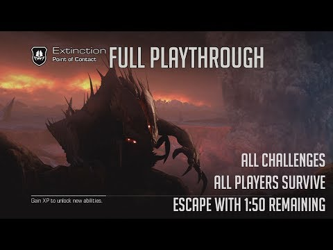 COD Ghosts : Extinction - ALL Challenges Complete - ALLPlayers Escape - Escape FAST!