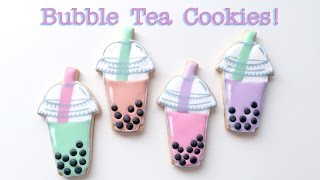 How To Decorate Bubble Tea Cookies!