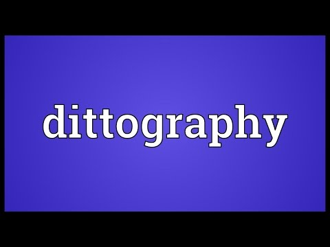 Header of dittography