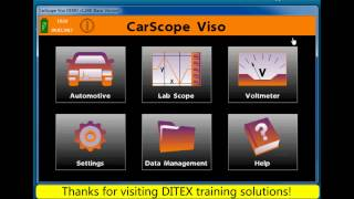 Automotive oscilloscope (Lab Scope) Tool CarScope Viso - Using hotkeys