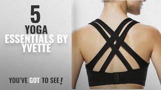 Top 10 Yvette Yoga Essentials [2018]: Yvette Women's Criss Cross Back Sports Bra-High Impact Plus
