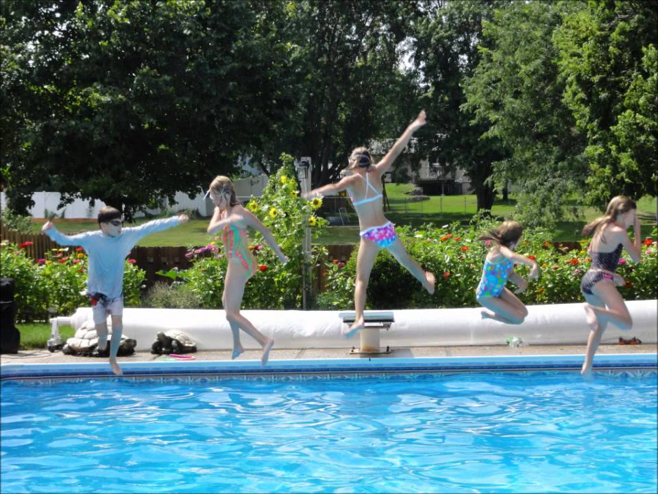 Girl scout pool party 2011 pictures with music youtube - How to make a pool party ...