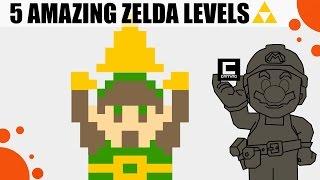 """Five amazing """"the legend of zelda"""" levels in super mario maker!"""